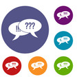question and exclamation icons set vector image vector image