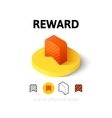 Reward icon in different style vector image vector image