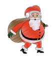 santa claus cartoon icon image vector image vector image