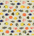 seamless fish pattern tropical reef vector image