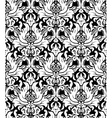 Seamless monochrome damask vintage pattern vector image vector image