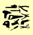 service tools silhouette vector image vector image