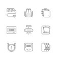 set line icons electricity vector image