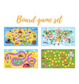 set of kids boardgame vector image vector image
