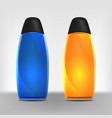set realistic of different colored bottles vector image