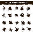 set twenty grunge round brush smear vector image
