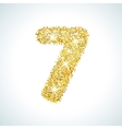 Seven number in golden style vector image vector image
