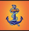ship anchor nautical hand drawn vector image