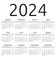 simple calendar 2024 monday vector image vector image