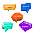 speech bubble 3d style set vector image vector image