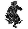 standing hanuman vector image