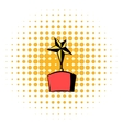 Star award icon comics style vector image vector image