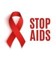 Stop AIDS background vector image