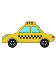 taxi car icon cartoon style vector image vector image