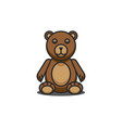 teddy bear funny cartoon character sitting with vector image