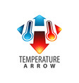 temperature arrow initial letter h logo concept vector image