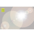 transparent sunlight special lens flare light vector image vector image