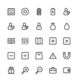 User Interface Colored Line Icons 5 vector image vector image