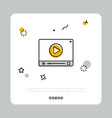 video player button on white vector image vector image