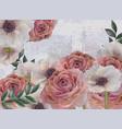 vintage spring flowers background roses vector image vector image