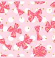 wedding seamless pattern background with bows and vector image