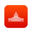 white house icon digital red vector image vector image