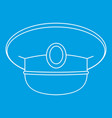 white nautical hat icon outline vector image vector image