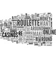 Win roulette easy tips to maximize your profits vector image