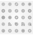 Car wheels icons vector image