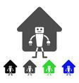 home robot icon vector image