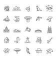 graphic set australian culture animals vector image