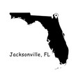 1292 jacksonville fl on florida state map vector image