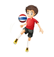 A soccer player fromThailand vector image vector image