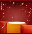 advertising stand design new year light gift box vector image vector image