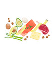 atkins low carb diet food vector image vector image