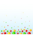 Background with colorful balls vector image vector image