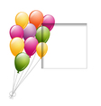 balloons and a frame vector image