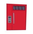 Bank safe door isolated vector image