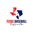 baseball sports inspiration logo in texas vector image vector image