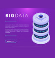 big data center base design vector image