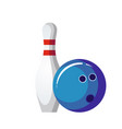 bowling ball and pin vector image vector image