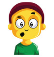 boy looking very cofused on white background vector image