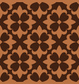 brown french ornamental ceramic tile vector image vector image