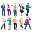 business people working in office cartoon vector image