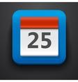 Calendar symbol icon on blue vector image vector image
