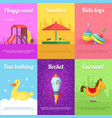 cards for kids with of funny toys vector image