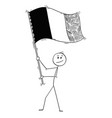 cartoon man waving flag belgium or france vector image