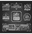 Chalk calligraphic drawing Set of Coffee sticker vector image vector image