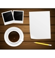 Coffee cup white paper vector image vector image