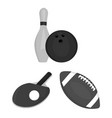 different kinds of sports monochrome icons in set vector image